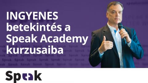 Betekintés a Speak Academy kurzusaiba